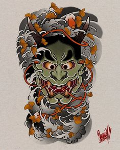 "DΔΠIDILΔTΔS trên Instagram: ""Hannya BackPiece project' not available! #hannya #hannyamask #hannyamasktattoo #japanesetattoo #backpiece #irezumi #irezumicollective…"" Hanya Mask Tattoo, Hannya Tattoo, Irezumi Tattoos, Dragon Tattoo Back Piece, Dragon Sleeve Tattoos, Body Art Tattoos, Arabic Tattoos, Oni Mask, Japanese Dragon Tattoos"