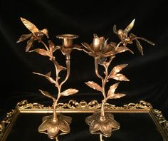 A personal favorite from my Etsy shop https://www.etsy.com/listing/219153793/vintage-solid-brass-candle-holder-set