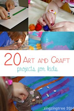 20 Art and craft projects for kids - from toddlers to teens here are 20 different arts and crafts for you to enjoy at home or in your classroom.