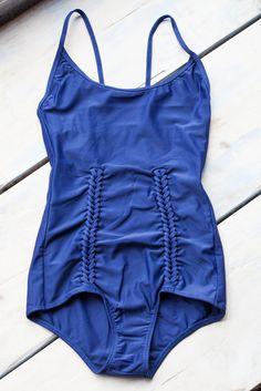 A Détacher Erin Swimsuit in Navy from Oroboro. #swimwear #onepiece #blue