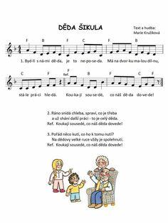 Music Do, Grandparents Day, Kids Songs, My Family, Sheet Music, 1, Good Things, Education, Songs For Children