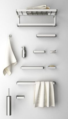 DEEP Toilet brush by design Monica Freitas Geronimi Bathroom Wall Shelves, Brass Bathroom, Wall Shelves Design, Wooden Bathroom, Bathroom Hardware, Bathroom Furniture, Towel Shelf, Towel Rail, Towel Hanger