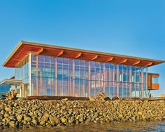 BC Commercial Wood Design Award winner - Nanaimo Cruise Ship Terminal Building, Nanaimo, BC - David Poiron and Ben Checkwitch, Checkwitch Poiron Architects, Vancouver and Nanaimo (CNW Group/Canadian Wood Council for Wood WORKS! Vancouver British Columbia, Tourist Sites, Wood Architecture, Wood Surface, Vancouver Island, Pacific Coast, Design Awards, Wood Design, Wood Projects