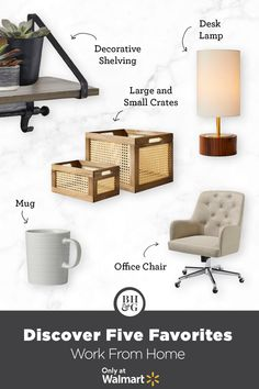 Work from home in comfort and style with office essentials from Better Homes & Gardens at Walmart. #workfromhomeideas #officeessentials #officechair #desklamp #officecorner #officeorganization #officeshelving #homeofficeideas #officedecor #WFHideas Office Shelving, Executive Suites, Only At Walmart, Tufted Chair, Office Essentials, Old World Style, Chair Backs, Affordable Furniture, Better Homes And Gardens