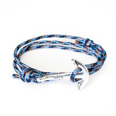 The Silver Hope Anchor Bracelet on Camp Rope