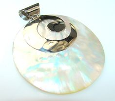 Blister Pearl Sterling Silver Pendant - weight 12.90g - dim 2 3 8, 2, 3 16 inch - code 12-lis-13-12
