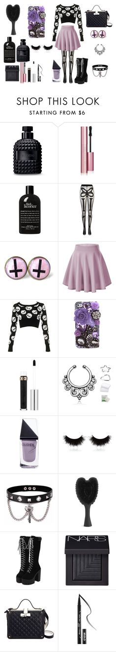 """""""Pastel Goth #3"""" by classyfashionqueen ❤ liked on Polyvore featuring Valentino, Too Faced Cosmetics, philosophy, River Island, Anna Sui, GUiSHEM, shu uemura, Trend Cool, NARS Cosmetics and Kat Von D"""