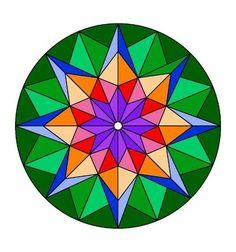 Mandalas coloreados fáciles - Mandalaweb Mandala Art Lesson, Mandala Drawing, Mandala Painting, Barn Quilt Designs, Barn Quilt Patterns, Geometric Mandala, Geometric Drawing, Mandala Pattern, Pattern Art