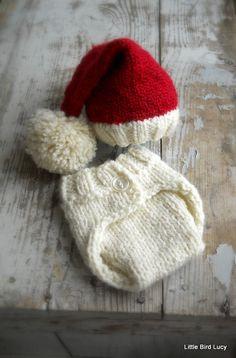 Newborn Santa Elf Hat Set