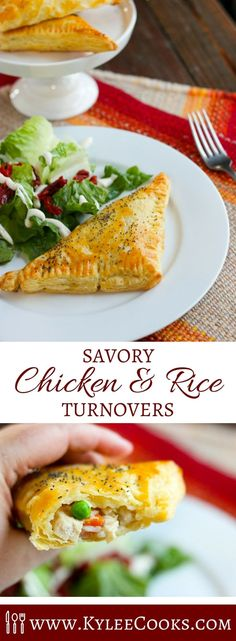 These Chicken & Rice Turnovers are quick to make and popular with everyone! @veeteeusa #ad #rice #recipe via @kyleecooks