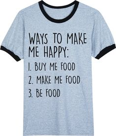 Be Food Grey Ringer T Shirt