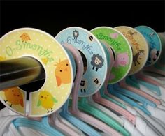 Baby Closet Organizer Clothing Dividers  Funny Farm by potatopatch, $13.50