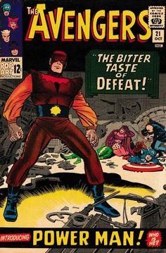 The Avengers App. Of Power Man Marvel Comics Avengers Art, Avengers Comics, Marvel Comic Books, Comic Books Art, Comic Art, Book Art, Vintage Comic Books, Vintage Comics, Pulp Fiction Comics