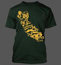 We Run California T-Shirt - Oakland Athletics A's World Series Stomper