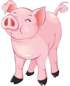free pig clipart from www cutecolors com party 3 cerditos rh pinterest com clipart of a pigeon clipart of a pig