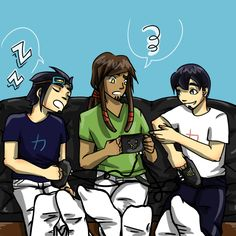 Art trade with She wanted a pic of Rocket and the twins chilling out together. I'm going to get some photography in return! XD Art trade - Chilling out Galactik Football, Chilling, Twins, Anime, Photography, Gemini, Fotografie, Photograph, Anime Shows