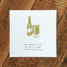 'beer' greeting card for dads #FathersDay