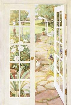 French Doors Mural