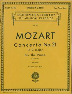 Mozart: Concerto No. 21 in C Major for the Piano: Two Piano Score Kochel 467