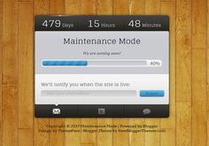 Maintenance Mode  Blogger Template