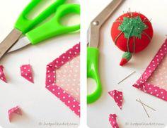 Como costurar cantos perfeitos!  DIY guardanapo Tutorial por Pamela