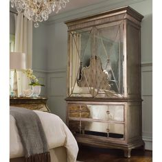 Hooker Furniture Sanctuary Armoire - Visage - Keep your clothes happy and content inside the Sanctuary Armoire - Visage. There are lots of options for your clothes – hang them up on the clot...
