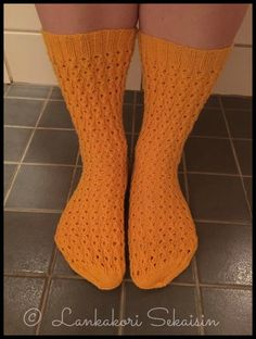 Lankakori Sekaisin: Magdaleena-sukat naisen villasukat pitsisukat austermann step
