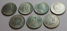 Österreich - 7 versch. 2 Schilling Silbermünzen aus 1928-1936sparen25.com , sparen25.de , sparen25.info