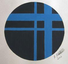 """""""Encruzilhada"""" acrílica sobre papel 0,42 x 0,30 2002 M. Sigrini Miranda"""