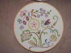 Crewel embroidery 1975 by love to sew, via Flickr