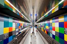 Munich U-Bahn in Germany. Do you believe that this place is a subway station? Metro Subway, Subway Art, U Bahn Station, Perspective Photography, S Bahn, Munich Germany, Metro Station, Ad Art, London Underground