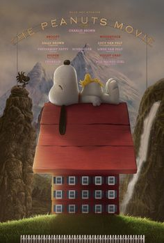 Cool poster for The Peanuts Movie in the style of The Grand Budapest Hotel.