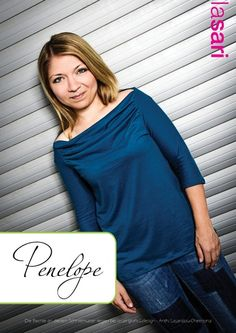 ✿ E-Book Penelopé ✿ Vokuhila+geraffter Ausschnitt von lasari design auf DaWanda.com