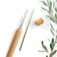 Our beautiful bamboo carry case and stainless steel straws set Id Design, Tool Design, Eco Friendly Stores, Fan Nails, Reusable Coffee Cup, Green Tips, Company Gifts, Metal Straws, Stainless Steel Straws
