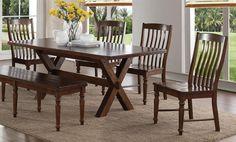 Creston 5 Pc Dining Set with 4 Side Chairs #UrbanLoft