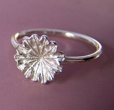 Poppy Flower Ring  Sterling Silver by esdesigns on Etsy