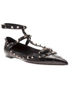 Valentino Garavani 'rockstud' Ballet Flat - Chuckies New York - Farfetch.com