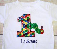 The Very Hungry Caterpillar 1st Birthday Shirt  by RightUpYourAli1, $25.00
