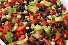 Black Bean Salad With Corn, Red Peppers and Cilantro-Lime Vinaigrette
