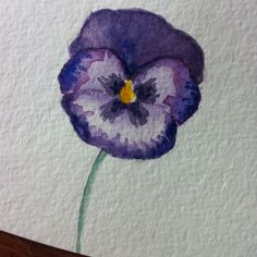 Watercolor Pansy Wedding Invitation