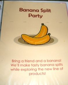 insert for banana theme party