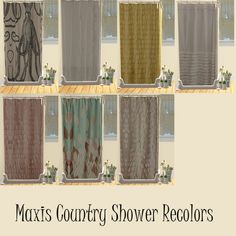 Maxis Country Shower Recolors
