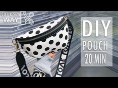 In this video DIY tutorial I show you an easy way to make the purse bag by own hands from scratch. ✂ Materials you need to make this DIY belt pouch bag: - fa. Fanny Pack Pattern, Bag Pattern Free, Backpack Pattern, Diy Belt Pouches, Diy Bag Zipper, Zipper Pouch, Couture Main, Diy Jewelry Unique, Diy Sac