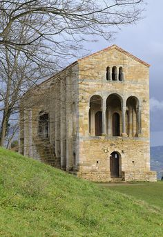 SANTA MARIA DEL NARANCO (Saint Maria of Naranco) in the city of Oviedo in Asturias Spain
