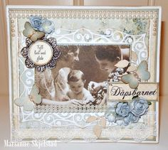 A baptism card for a boy by Marianne