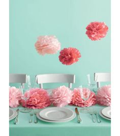 Pink Pom Poms | @Martha Stewart Crafts Pom Poms | DIY Wedding Ideas from Joann.com