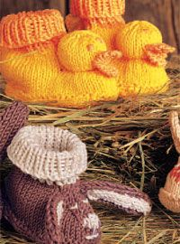 Free knitted baby booties in free guide.