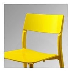 IKEA - JANINGE, Stuhl, Stapelbare Stühle sparen Platz, wenn sie nicht benötigt werden.Der Stuhl ist fertig montiert. Einfach Platz nehmen!