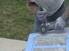 How to Cut & Polish Granite Countertop DIY - Undermount Sink - YouTube