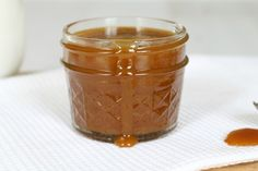 My favourite thing ever!!! Salted Caramel Sauce! I love to drizzle this over my desserts or ice-cream.
